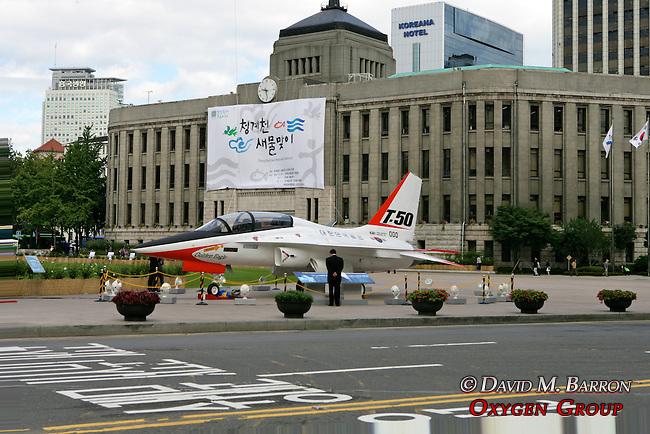 T-50 Airplane Display in Sungdong-gu