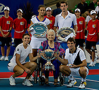 Andy Murray (GBR) and Laura Robson (GBR) against Tommy Robredo (ESP) and Maria Jose Martinez Sanchez (ESP) in the finals  between Great Britain and Spain. Tommy Robredo (ESP) and Maria Jose Martinez Sanchez (ESP) beat Andy Murray (GBR) and Laura Robson (GBR)  7-6 7-5..International Tennis - Hyundai Hopman Cup XXII - Sat 00 Jan 2010 - Burswood Dome - Perth - Australia ..© Frey - AMN Images, 1st Floor Barry House, 20-22 Worple Road, London, SW19 4DH