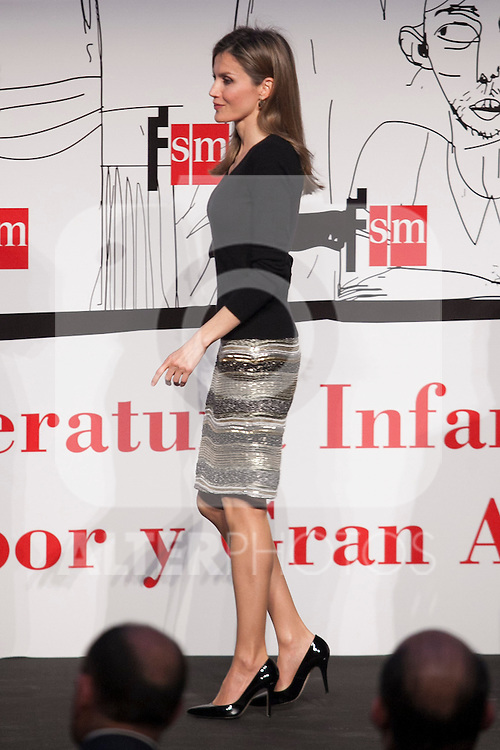 Princess Letizia of Spain attends `El barco de vapor´ Awards ceremony at Real Casa de Correos in Madrid, Spain. April 01, 2014. (ALTERPHOTOS/Victor Blanco)