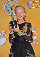 Dame Helen Mirren at the 20th Annual Screen Actors Guild Awards at the Shrine Auditorium.<br /> January 18, 2014  Los Angeles, CA<br /> Picture: Paul Smith / Featureflash