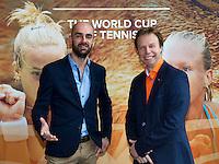 Februari 07, 2015, Apeldoorn, Omnisport, Fed Cup, Netherlands-Slovakia, Kiki Bertens (NED)   Anna Karolína Schmiedlová, (SLO)<br /> Photo: Tennisimages/Henk Koster