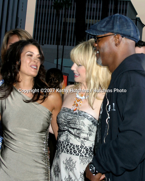 "Teri Hatcher,  Kathryn Morris, and Samuel L. Jackson ""Resurrecting The Champ"" Premiere.Beverly Hills,  CA.Aug 22, 2007.©2007 Kathy Hutchins / Hutchins Photo...."