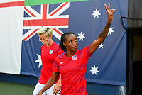 San Diego, CA - Sunday July 30, 2017: Crystal Dunn during a 2017 Tournament of Nations match between the women's national teams of the United States (USA) and Brazil (BRA) at Qualcomm Stadium.