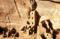 USA, Colorado, Mesa Verde National Park, Square Tower House, cliff dwellings of the Anasazi A.D. 1200