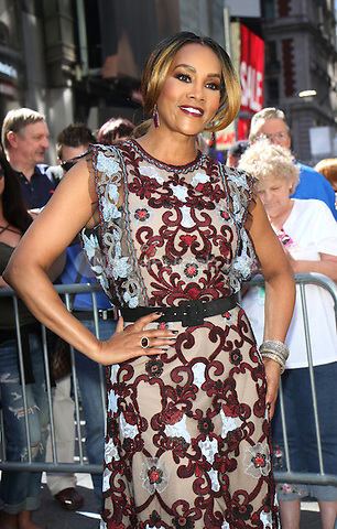 NEW YORK, NY-June 14: Vivica A. Fox from the cast of  Independence Day: Resurgence ring Nasdaq Stock Open Bell  at Nasdaq Time Square in New York. NY June 14, 2016. Credit:RW/MediaPunch