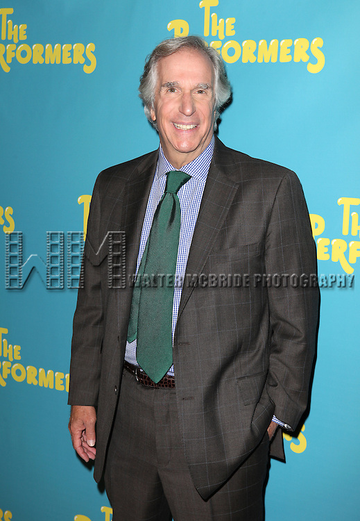 """Actor Henry Winkler attends press event to introduce the cast and creators of the new Broadway play """"The Performers""""at the Hard Rock Cafe on Tuesday, Sept. 25, 2012 in New York. (Photo by © Walter McBride/WM Photography//AP)"""