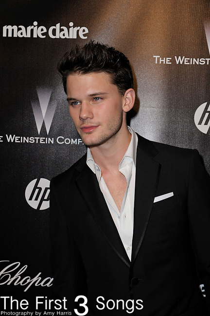 Jeremy Irvine attends the 2012 Weinstein Company Golden Globes After Party at The Beverly Hilton Hotel in Beverly Hills, CA on January 15, 2012.