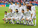 Greece against Russia at Euro 2008. Back row from left: Traianos Dellas, Angelos Charisteas, Christos Patsatzoglou, Sotirios Kyrgiakos, Antonios Nikopolidis and Nikolaos Liberopoulos. Front row from left: Giourkas Seitaridis, Angelos Basinas, Ioannis Amanatidis, Vassilis Torosidis and Kostas Katsouranis.   RUS-GRE, 06142008, Salzburg, Austria