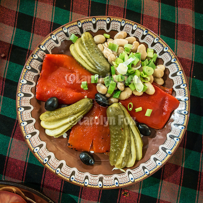 Colorful and pleasing fruits and vegetables for dinner, Kazanlak, Bulgaria