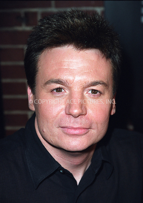 Actor Mike Myers attending a party celebration of the first anniversary of his club Man Ray. New York, July 10, 2002. Please byline: Alecsey Boldeskul/NY Photo Press.   ..*PAY-PER-USE*      ....NY Photo Press:  ..phone (646) 267-6913;   ..e-mail: info@nyphotopress.com