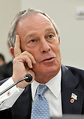 Washington, DC - July 31, 2008 -- New York City Mayor Michael Bloomberg testifies before the United States House of Representatives Committee on Energy and Commerce Subcommittee on Health in favor of H.R. 6594, the James Zadroga 9/11 Health and Compensation Act of 2008 in Washington, D.C. on Thursday, July 31, 2008.  The bill seeks to mandate federal funding for monitoring, screening, and treatment of 9/11 responders while continuing to fund essential ongoing federal research..Credit: Ron Sachs / CNP.(RESTRICTION: No New York Metro or other Newspapers within a 75 mile radius of New York City)