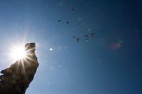 Congonhas_MG, Brasil...Escultura de Aleijadinho (Antonio Francisco Lisboa) no Santuario de Bom Jesus do Matozinhos em Congonhas. ..The Aleijadinho (Antonio Francisco Lisboa) sculpture in the sanctuary of Bom Jesus do Matozinhos in Congonhas...Foto: LEO DRUMOND / NITRO.
