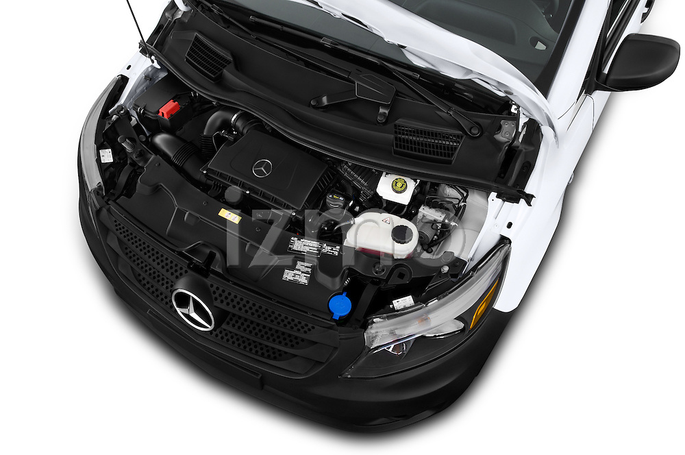 Car Stock 2016 Mercedes Benz Metris Cargo-Van 4 Door Cargo Van Engine  high angle detail view