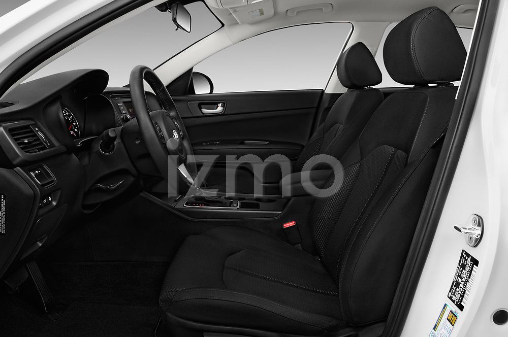 Front seat view of 2016 KIA Optima LX Turbo 4 Door Sedan front seat car photos
