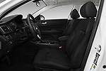 Front seat view of 2016 KIA Optima LX Turbo 4 Door Sedan front seat car photos