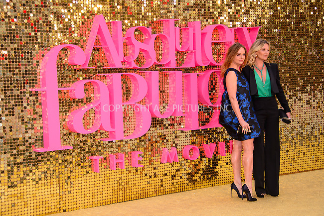 www.acepixs.com<br /> <br /> June 29 2016, London<br /> <br /> Stella McCartney (L) and Kate Moss  arriving at the World Premiere of 'Absolutely Fabulous: The Movie' at the Odeon Leicester Square on June 29, 2016 in London, England<br /> <br /> By Line: Famous/ACE Pictures<br /> <br /> <br /> ACE Pictures Inc<br /> Tel: 6467670430<br /> Email: info@acepixs.com<br /> www.acepixs.com