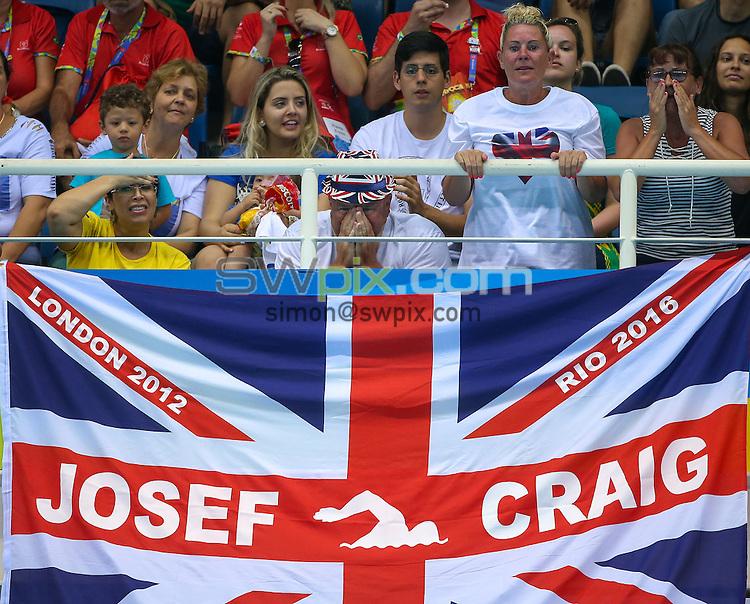 Picture by Alex Whitehead/SWpix.com - 11/09/2016 - 2016 Rio Paralympic Games - Swimming - Olympic Aquatics Stadium, Rio de Janeiro, Brazil - Josef Craig of Great Britain competes in the Men's 100m Freestyle S8 Final.