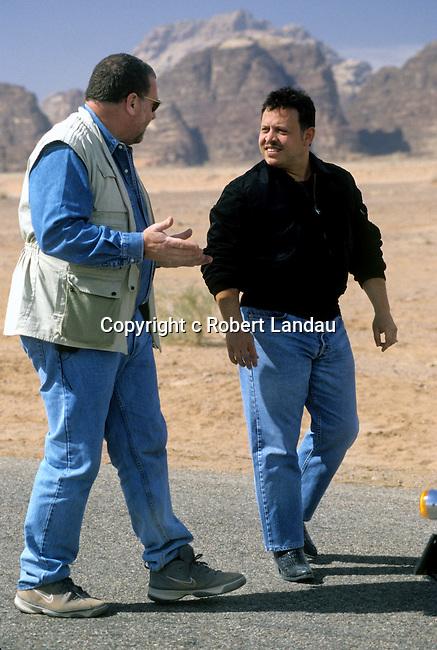 King Abdullah II of Jordanand Peter Greenberg  in Wadi Rum