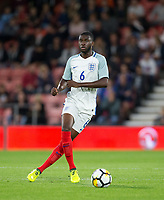 Fikayo Tomori (Hull City (on loan from Chelsea) of England U21 during the UEFA EURO U-21 First qualifying round International match between England 21 and Latvia U21 at the Goldsands Stadium, Bournemouth, England on 5 September 2017. Photo by Andy Rowland.