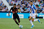 CD Leganes's Youssef En-Nesyri during La Liga match between CD Leganes and Atletico de Madrid at Butarque Stadium in Madrid, Spain. August 25, 2019. (ALTERPHOTOS/A. Perez Meca)