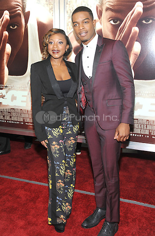 NEW YORK, NY - FEBRUARY 17: Naturi Naughton and Stephan James at thes 'Race' New York Screening at Landmark's Sunshine Cinema on February 17, 2016 in New York City.  Credit: John Palmer/MediaPunch