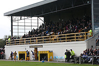 The stand at Mosset Park as the teams come out for the second half in the Forres Mechanics v Rangers William Hill Scottish Cup 2nd Round match, at Mosset Park, Forres on 29.9.12.