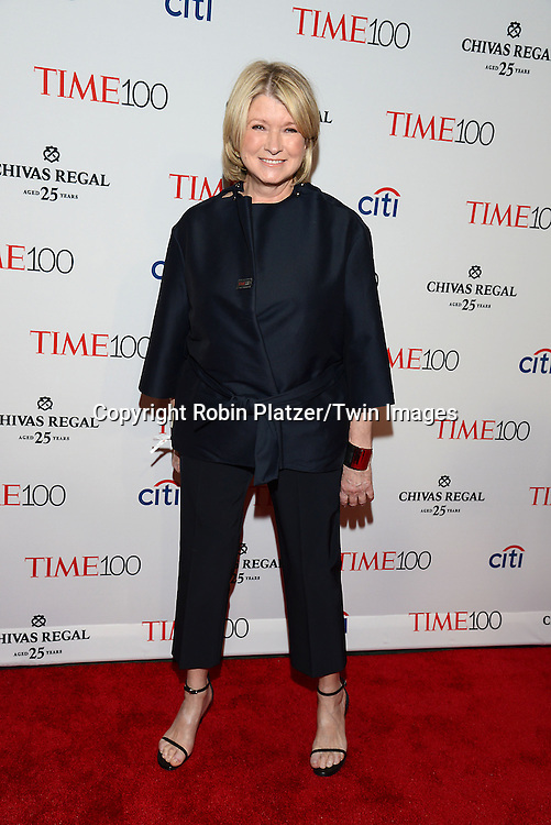 Martha Stewart attends the TIME 100 Issue celebrating the 100 Most Influential People in the World on April 21, 2015 <br /> at Frederick P Rose Hall at Lincoln Center in New York City, New York, USA.<br /> <br /> photo by Robin Platzer/Twin Images<br />  <br /> phone number 212-935-0770