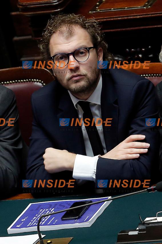 Luca Lotti<br /> Roma 13-12-2016.      Camera Voto di Fiducia al nuovo Governo<br /> Rome December 13th 2016. Chamber of Deputies. Trust vote to the new Government<br /> Foto Samantha Zucchi Insidefoto