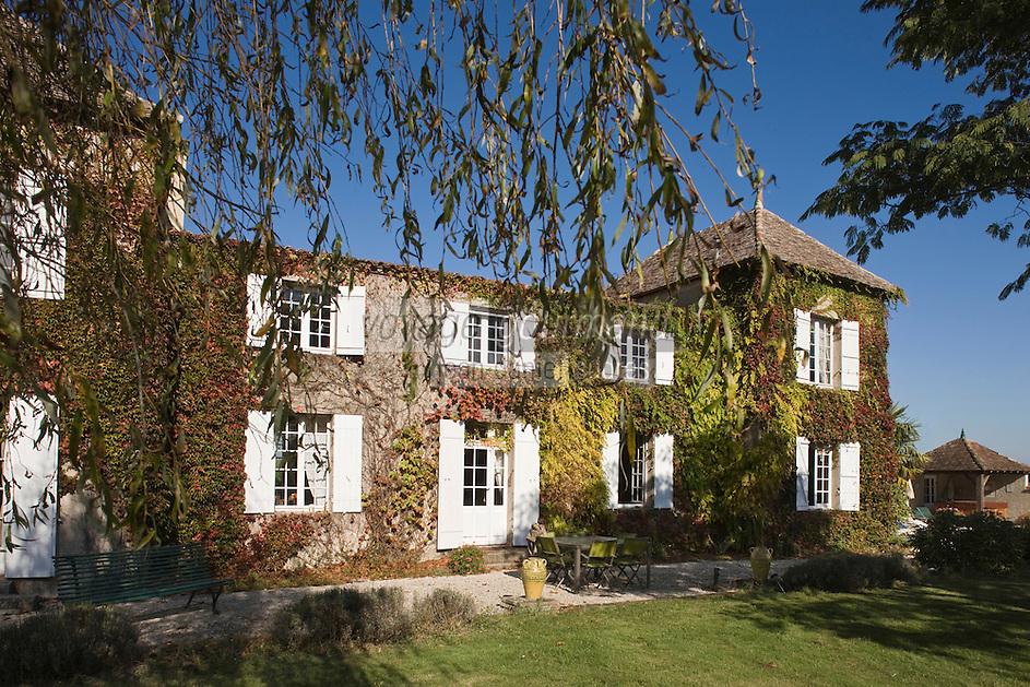 Europe/France/Aquitaine/24/Dordogne/Saussignac: La Queyssie: la chartreuse dans les vignes - Maison d'Hôtes