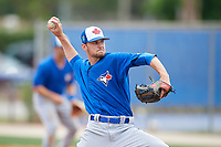 Toronto Blue Jays pitcher Nick Hartman (72) during a Minor League Spring Training Intrasquad game on March 31, 2018 at Englebert Complex in Dunedin, Florida.  (Mike Janes/Four Seam Images)