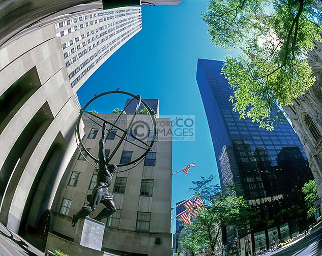 ATLAS ROCKEFELLER CENTER FIFTH AVENUE MANHATTAN NEW YORK CITY USA