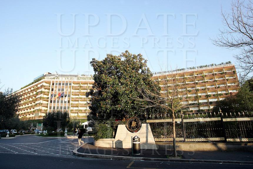 Una veduta esterna dell'Hotel Cavalieri Hilton di Roma, 14 febbraio 2008..An external view of the Cavalieri Hilton Hotel in Rome, 14 february 2008..UPDATE IMAGES PRESS/Riccardo De Luca