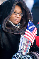 Veneka Henderson of Atlanta, GA attends the inauguration of Barack Obama as the 44th President of the United States in Washington D.C. on January 20th, 2009.