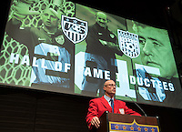 Seattle, Washington - Saturday, October 3, 2015: U.S. Soccer Federation 2015 Hall of Fame Induction.