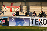 Blyth fans waiting for kick off. Blyth Spartans v Brackley Town, 30112019. Croft Park, National League North. Photo by Paul Thompson.