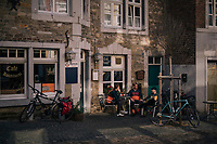 coffee break during gravel ride in the Eifel National Park / High Venn Nature Park in North Rhine-Westphalia, Germany<br /> <br /> over the Dirty Boar Gravel Ride parcours