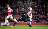 Alexandre Lacazette of Arsenal scores a goal during the UEFA Europa League match between Arsenal and Qarabag FK at the Emirates Stadium, London, England on 13 December 2018. Photo by Andy Rowland.