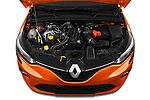 Car stock 2020 Renault Clio Edition One 5 Door Hatchback engine high angle detail view