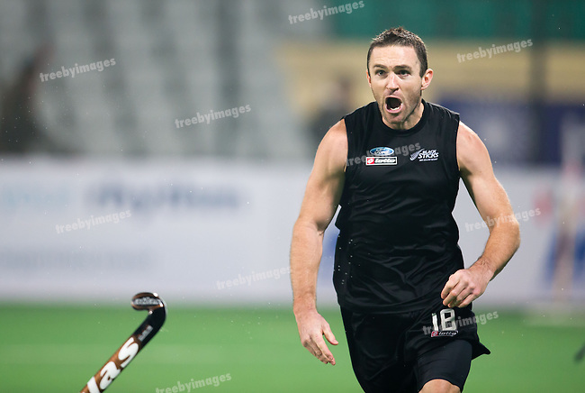 Mens Hockey World league Final Delhi 2014<br /> Day 5, 17-01-2014<br /> England v New Zealand<br /> Phil Burrows<br /> <br /> Photo: Grant Treeby / treebyimages