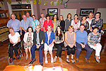 Marian Collins Rathanny Ballymacelligott, surprise party to celebrate her 60th birthday with family and friends at O'Riada's Bar on Saturday
