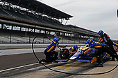 Verizon IndyCar Series<br /> Indianapolis 500 Practice<br /> Indianapolis Motor Speedway, Indianapolis, IN USA<br /> Wednesday 17 May 2017<br /> Alexander Rossi, Andretti Herta Autosport with Curb-Agajanian Honda pit stop practice<br /> World Copyright: Phillip Abbott<br /> LAT Images<br /> ref: Digital Image abbott_indyP_0517_14079