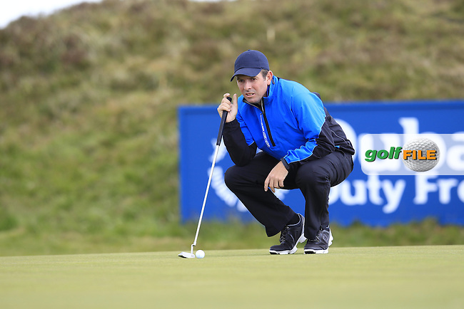 Thomas AIKEN (RSA) on the 8th green during Saturday's Round 3 of the 2015 Dubai Duty Free Irish Open, Royal County Down Golf Club, Newcastle Co Down, Northern Ireland 5/30/2015<br /> Picture Eoin Clarke, www.golffile.ie