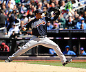 JAIR JURRJENS, of the Atlanta Braves, in action during the Braves game against the New York Mets on April 7, 2012 at Citi Field in Corona, NY. The Mets beat the Braves 4-2.