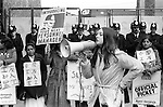 Grunwick Strike North London UK. 1977. Mrs Jayaben Desai, second left.<br />