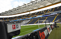 Sky TV Kamera, Stadionansicht Innenraum, Rasen  - 26.05.2020 Fussball 1.Bundesliga Spieltag 28, Eintracht Frankfurt  - SC Freiburg emspor, <br /> <br /> Foto: Jan Huebner/Pool/ Via Marc Schueler/Sportpics.de<br /> (DFL/DFB REGULATIONS PROHIBIT ANY USE OF PHOTOGRAPHS as IMAGE SEQUENCES and/or QUASI-VIDEO), Editorial use only. National and International News Agencies OUT