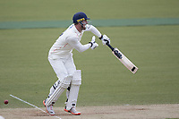 Dane Vilas of Lancashire CCC takes an uncomfortable blow from Steven Finn of Middlesex CCC during Middlesex CCC vs Lancashire CCC, Specsavers County Championship Division 2 Cricket at Lord's Cricket Ground on 13th April 2019