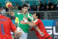 Algeria's Abdelkader Rahim (l) and Egypt's Mohamed Hisham during 23rd Men's Handball World Championship preliminary round match.January 15,2013. (ALTERPHOTOS/Acero) /NortePhoto