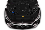 Car stock 2019 Mercedes Benz S-Class S560 2 Door Coupe engine high angle detail view