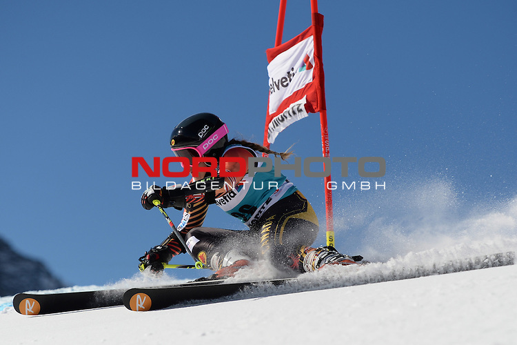 ST MORITZ, SWITZERLAND - DECEMBER 15: Marie-Pier Prefontaine of Canada  during the Audi FIS Alpine Ski World Cup giant slalom race on December 15 2013 in St Moritz, Switzerland. <br /> Foto nph / Gunn