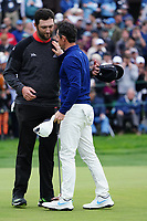 Rory McIlroy (NIR) & Jon Rahm (ESP) In action during the final round of the Farmers Insurance Open, Torrey Pines, La Jolla, San Diego, USA. 25/01/2020<br /> Picture: Golffile | Phil INGLIS<br /> <br /> <br /> All photo usage must carry mandatory copyright credit (© Golffile | Phil Inglis)